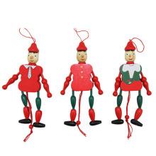 FQ marque personnalisé mode environnement intéressant en bois bébé poupée clown forme jouet