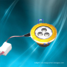 China de la fabricación de 2014 de oro led empotrable downlight 3w forma redonda cuadrada