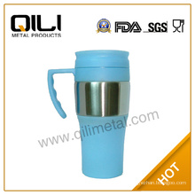 Fashion double wall sport plastic water bottle