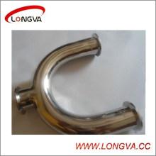 Tés en acier inoxydable Hotsale Sanitary Clamped U-Type
