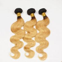 Les distributeurs en gros ont voulu la mode cheveux tissage brésilien vague de corps ombre colorées extensions de cheveux