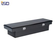 Boîte de rangement d'outil de lit de camion de croisement général en aluminium