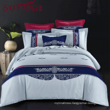 2017 fashion design Luxury hotel Factory Directly High 100%cotton 60s/40s/80s Super soft cotton flax bedding sets