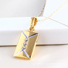 Colgante de joyería de moda en oro de 14k y color de rodio