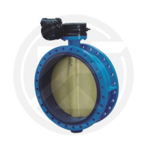 worm gear /turbine drive motorized butterfly valve