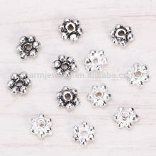Sef024 la joyería de la plata esterlina 100pc / lot s925 rebordea los accesorios el espaciador cristalino de plata tailandés de 3m m separa los accesorios diy hechos a mano