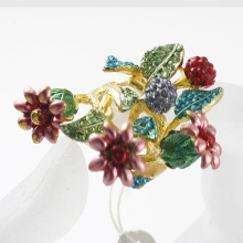 Fashion rhinestone flower cluster rings wholesale jewelry!AAA crystals top quality