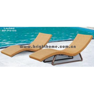 Rattan Wicker Sun Lounge Outdoor Mobiliário de praia