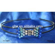 Neues Art und Weisegroßverkauf Rhinestonehaar-elastisches Band