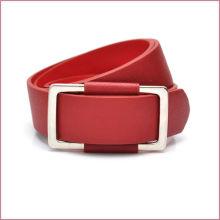 Женские классические красные личи зерна PU красочные моды пояса женщин
