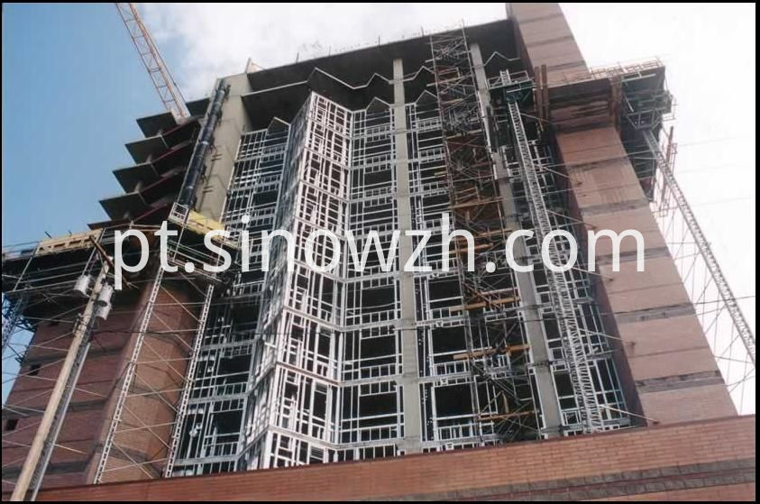high rising steel frame building