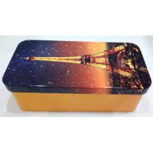 Rectangular Metal Tea Tile Box personalizado
