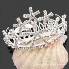 Atacado de cristal de cabelo acessórios tiara cabelo barrettes para menina