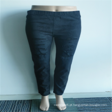 Atacado 98% Algodão 2% Spandex Lace Ripped Jeans