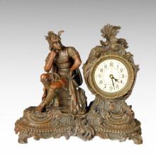 Statue de l'horloge Roman Strategos Sculpture en bronze Bell Tpc-038