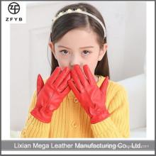 Niño guantes de motocicleta de conducción de cuero