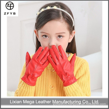 Child's leather driving motorcycle gloves