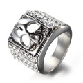 Hot sale Titanium steel square ring with Zircon