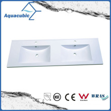 Sanitaryware Double Bowl Polymarble Vanity Top Acb1246A