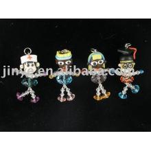 fashion crystal polymer clay doll
