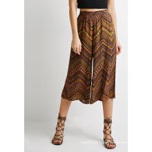 Abstrait Chevron Print Culottes à larges jambes Vêtements pour femmes