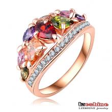 Luxury Multi-Color Zircon Wedding Ring for Women (Ri-HQ0401-A)