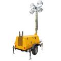 Torre de iluminação diesel portátil pequena da emergência do gerador