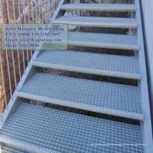 Suelo de acero galvanizado, piso de acero galvanizado, paso de rejilla galvanizado