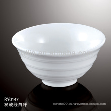 Cuenco de cerámica de doble línea de hotel y restaurante, juego de cena