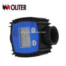 Débitmètre numérique de l'eau de carburant 10-120L / MIN Compteur électronique de turbine k24