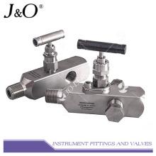 Múltiple de válvula de instrumento de puerto múltiple de acero inoxidable