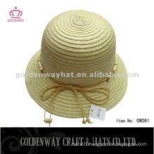 Korean Fashion Paper Bowler Hat GW061 lady bucket hats