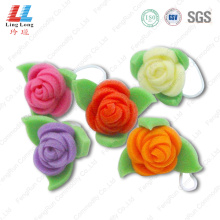 Flower shape 3D bath sponge