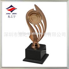 Taça de troféu esportiva de plástico troféu de troféu troféu de bronze