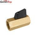 Gutentop Black Handle 3/8 x 3/8 Female Or Male Thread NPT Nickel or Brass Mini Ball Valves