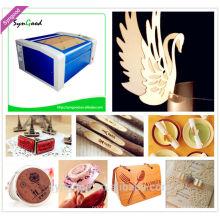 Máquina de corte láser de tamaño pequeño para artesanía Syngood 500 * 300mm para madera de papel cristal de cristal de piedra