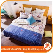 Folha de cama de padrão de torre para casa com boa qualidade