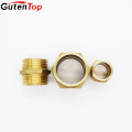 LB Guten top 2 inch Hexagon head brass forged O-Ring water pipe brass fitting