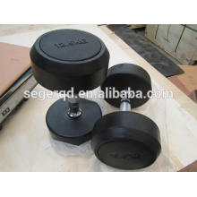 fixed rubber dumbbells 12.5kgs
