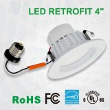 9W 12W 4 inch LED recessed dimmable can 2835 LM80 SMD UL cUL FCC ES qualified