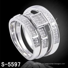 Anillo de plata de los pares de la joyería de la nueva manera 925 de la llegada (S-5597)