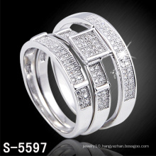 New Arrival Fashion 925 Silver Jewelry Couple Ring (S-5597)