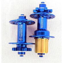 Mountainbike-Hubs Fahrrad-Disc-Hubs super leichte Fahrrad-Hubs mit Schnellspanner 32 Löcher blau