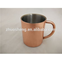 Taza de cobre antigua con taza de mula de Moscú de logo