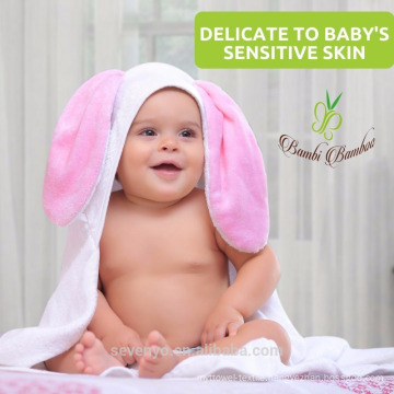 Sevenyo lovely rebbit super soft and suit for boys and girls fishion baby hooded towel