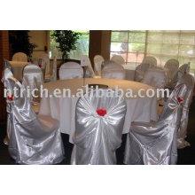 Satin Chair Bezug, Tasche / Sitzbezug, Bankett / Hotelstuhlabdeckung