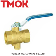 brass color long handle temperature ball valve