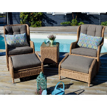 Wicker Garden Outdoor Furniture Rattan Patio Arm Chair Set