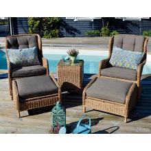 Jardim de vime ao ar livre mobiliário pátio braço cadeira do rattan