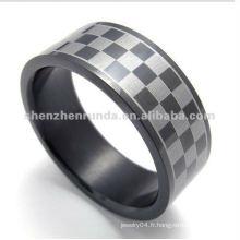 Fashion Style Lattice 316L S.Steel rings jewelry